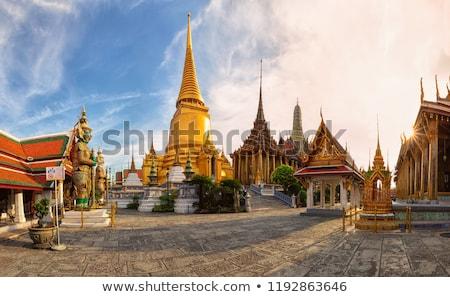 Buda görüntü ayakta tapınak eski anlamaya Stok fotoğraf © sundaemorning