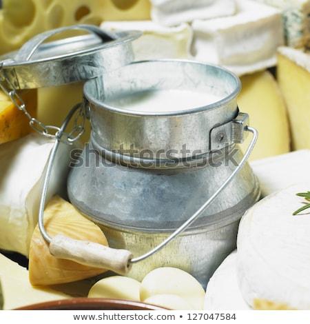 Milk Churns and Cheese Stock photo © jaylopez