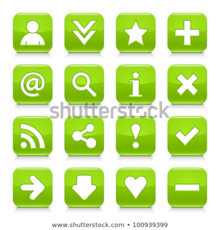 vektor · szerzői · jog · ikon · zöld · fekete · kommunikáció - stock fotó © nickylarson974