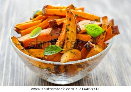 Vers gebakken zoete aardappel voedsel vork Stockfoto © joannawnuk