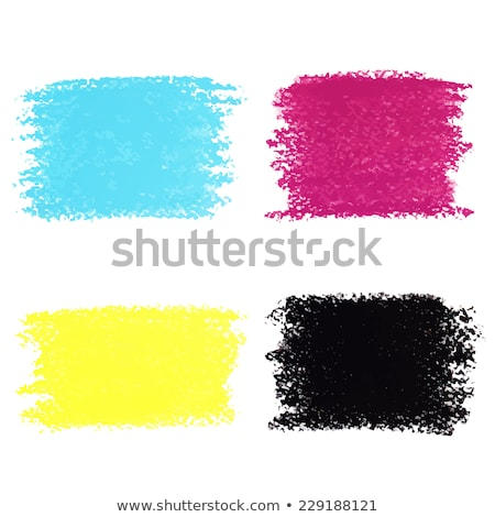 Set of CMYK circle spots of pastel crayon, isolated on white background Stock photo © gladiolus