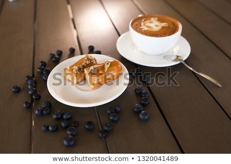 Caramelo decoração branco comida chocolate Foto stock © homydesign