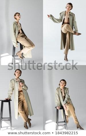 Donna sgabello seduta giovani bella Foto d'archivio © feedough