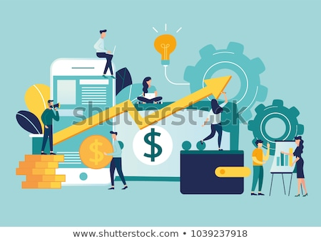 Vector Flat Design Growth of Business. Investment or Economic Concepts. Stock photo © thanawong