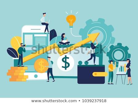 ベクトル · デザイン · 成長 · ビジネス · 投資 · 経済の - ストックフォト © thanawong