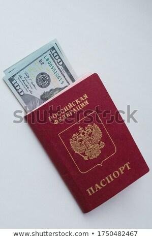 Dos ruso pasaporte americano dólares fondo Foto stock © Valeriy