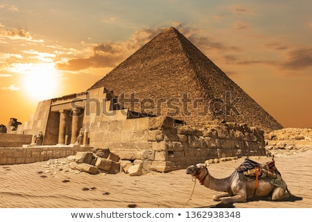 Mastaba and Great Pyramid in Egypt Stock photo © Mikko