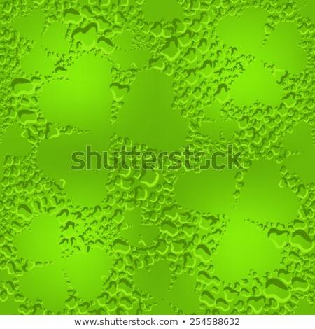 verde · sem · costura · trevo · folhas · ilustração · vetor - foto stock © orensila