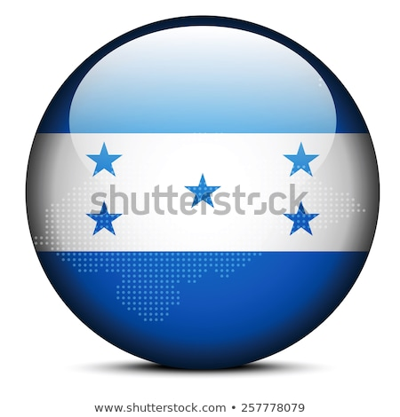 map with dot pattern on flag button of honduras stock photo © istanbul2009