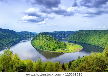 Traditional boat  in the danube river Stock photo © mady70