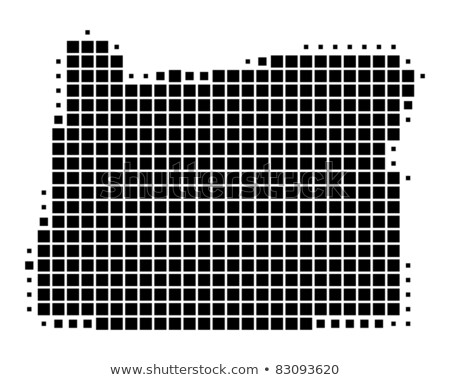 карта США Орегон точка шаблон вектора Сток-фото © Istanbul2009