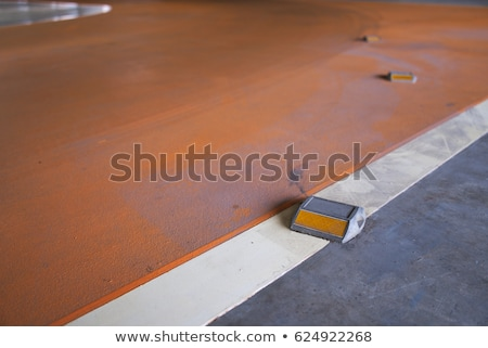 road stud with white reflector and red path Stock photo © FrameAngel