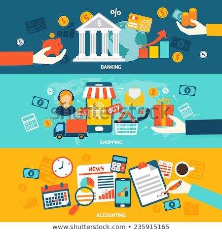 Сток-фото: банковской · торговых · учета · Баннеры · дизайна · Финансы
