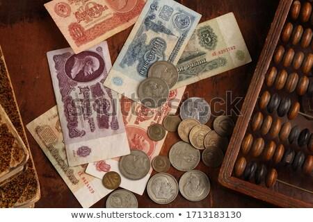 счеты монетами 3d визуализации квадратный изображение Сток-фото © Koufax73