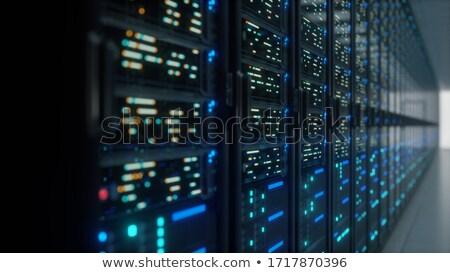Hosting kabli internetowych komputera technologii serwera Zdjęcia stock © kubais