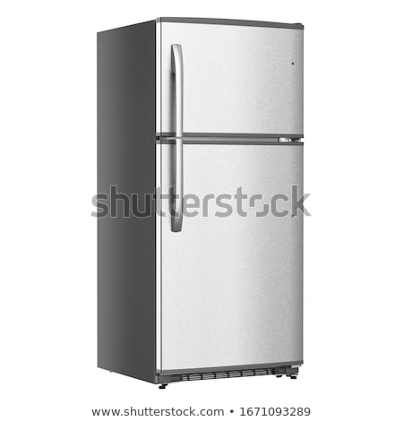 Stock photo: two refrigerators isolated