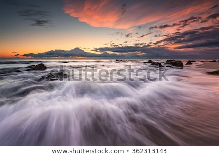 sea stormy landscape over rocky coastline Stock photo © Mikko