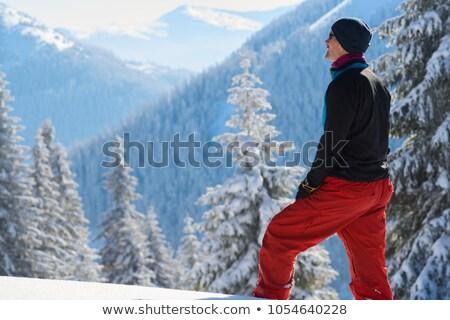 Uzun yürüyüşe çıkan kimse bakıyor sırt çantası dişli mutlu Stok fotoğraf © pedromonteiro