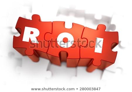 roi   white word on red puzzles stock photo © tashatuvango