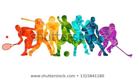 Sport activiteit ideeën gloeilamp vorm witte Stockfoto © Lightsource