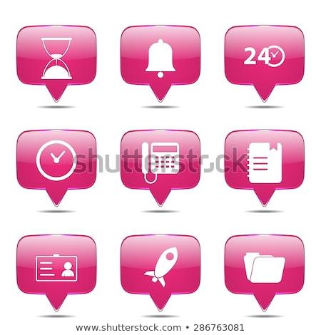 idő · tér · vektor · rózsaszín · ikon · terv - stock fotó © rizwanali3d