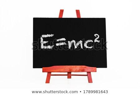 energia · képlet · tábla · szöveg · fakeret · fehér - stock fotó © make