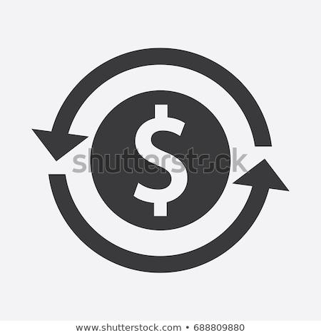 Volver inversión icono negocios diseno aislado Foto stock © WaD