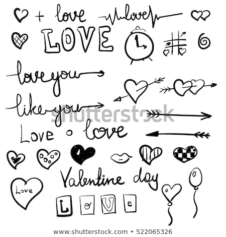 love symbols set stock photo © dashikka