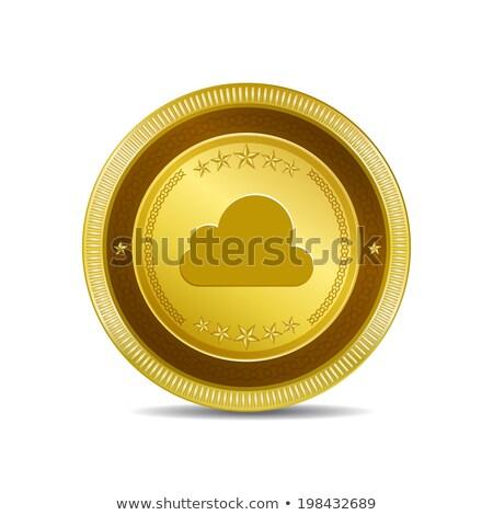 Cloud Circular Vector Gold Web Icon Button stock photo © rizwanali3d