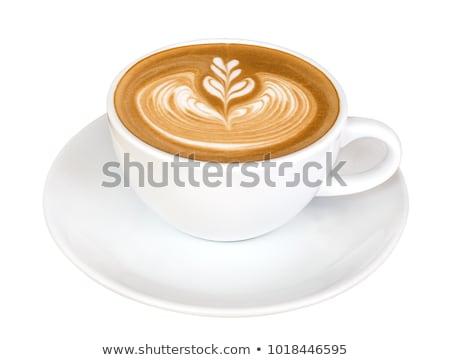 Tasse cappuccino riche lait noix de muscade haut Photo stock © Digifoodstock