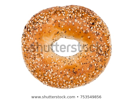 Fresh Bagel Isolated on a White Background Stock photo © shutswis
