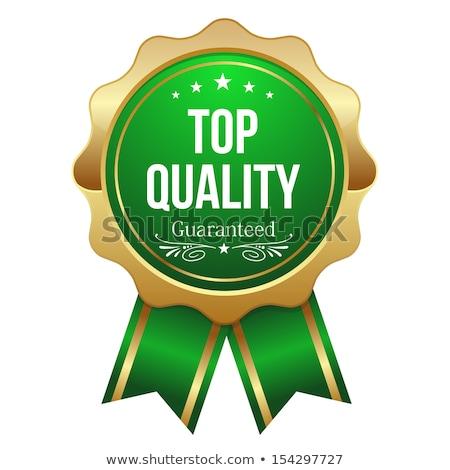 Prima calidad verde sello etiqueta vector Foto stock © rizwanali3d