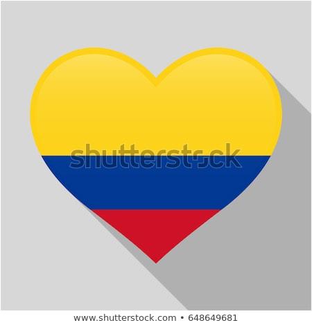 Colombia Heart flag icon Stock photo © netkov1
