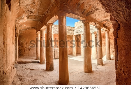 ancient columns at paphos archaeological park cyprus stock photo © kirill_m