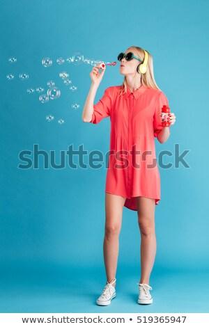 девочку · мыльный · пузырь · матери · девушки · ребенка · детей - Сток-фото © ra2studio