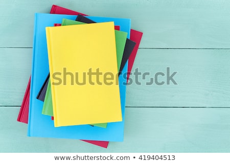 Offset stack of multicolored hardcover books Stock photo © ozgur