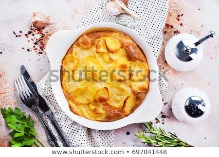 patate · tavola · colazione · forcella · cottura · pranzo - foto d'archivio © yelenayemchuk