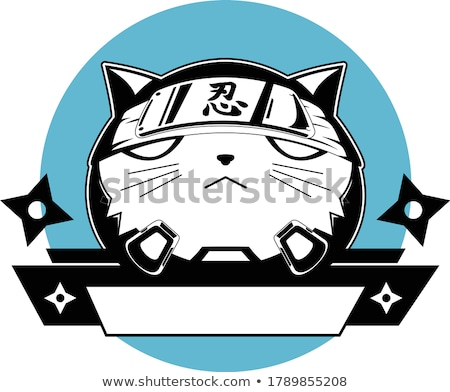 Ninja Cat Mascot Cartoon Character stock photo © ridjam