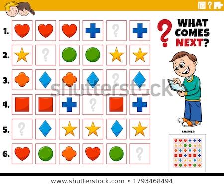 preschool pattern activity Stock photo © izakowski
