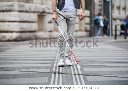 blind handicap man walking Stock photo © Twinkieartcat