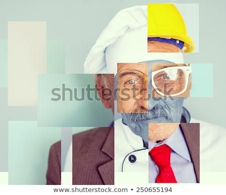 Kolaj görüntü bir adam farklı meslekler Stok fotoğraf © zurijeta