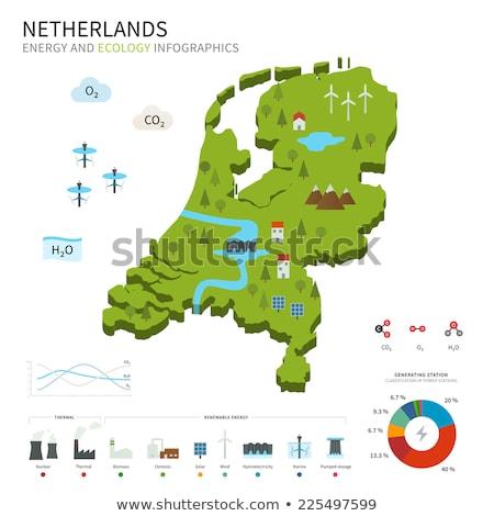Nederland milieu kaart groen gras ecologisch natuur Stockfoto © speedfighter