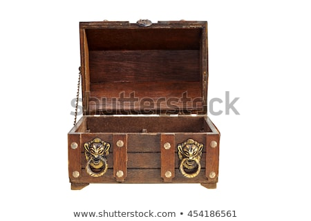 opened vintage wooden chest stock photo © shutswis