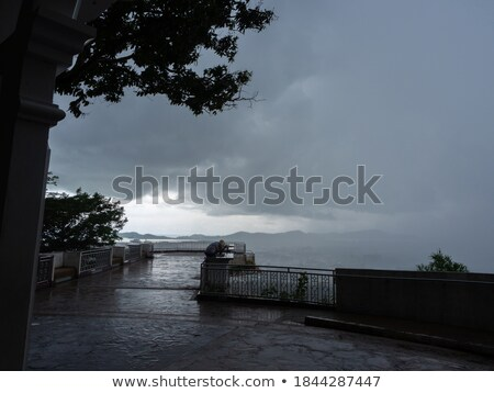 Tormenta nube imagen cielo madera naturaleza Foto stock © magann