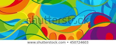Rio Brazília szín terv formák sport Stock fotó © cienpies