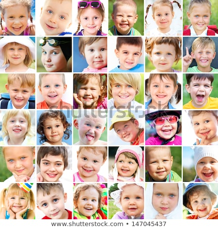 Little boy with many facial expressions Stock photo © bluering
