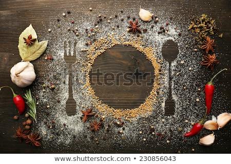 Ideen Platte Wort weiß Essen Schule Stock foto © fuzzbones0