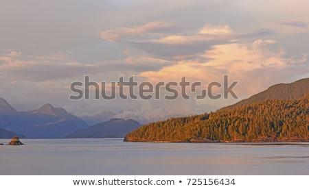 Rosso nubi passaggio Vancouver isola Foto d'archivio © wildnerdpix