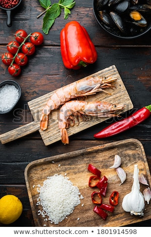 Stock photo: Raw Ingredients for Paella