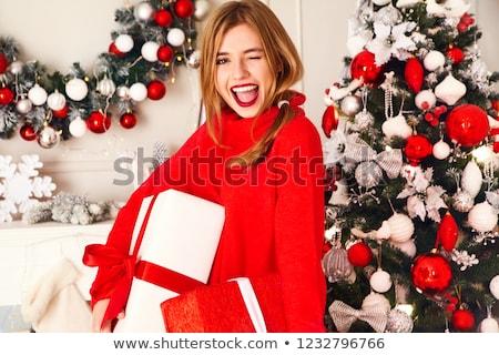いい 女性 赤 幸せ 目 ボディ ストックフォト © Elnur